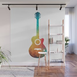 Rainbow electric guitar Wall Mural