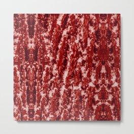 red color snow barn wood texture bark nature print Metal Print