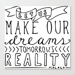 Reality Canvas Print