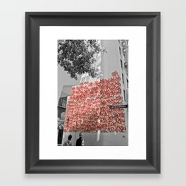 Graffiti on Abercrombie 02 Framed Art Print