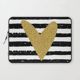 Heart on stripes Laptop Sleeve