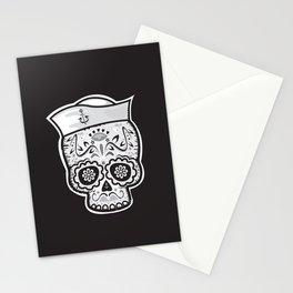 Marinero muerto sugar skull Stationery Cards