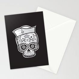 Marinero muerto sugar skull Stationery Cards