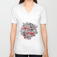 koi fish V-neck T-shirts featuring Koi Fish by Studio Su