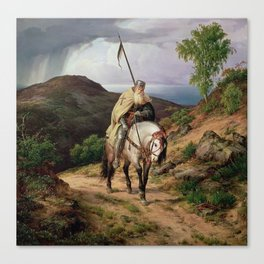 The Return of the Crusader, 1835 - Karl Lessing Canvas Print