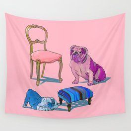 animals with chairs #2 Socializing Wall Tapestry