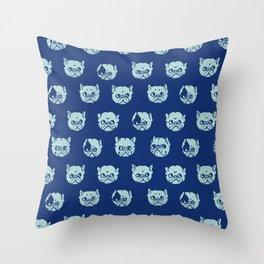 Polka Dot French Bulldog Throw Pillow