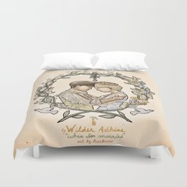 """Illustration from the video of the song by Wilder Adkins, """"When I'm Married"""" Duvet Cover"""
