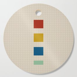 four elements || tweed & primary colors Cutting Board