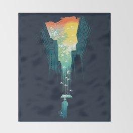 I Want My Blue Sky Throw Blanket
