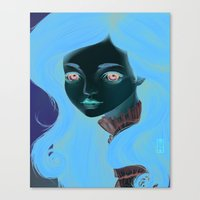 doll Canvas Prints featuring Doll by Lily Art