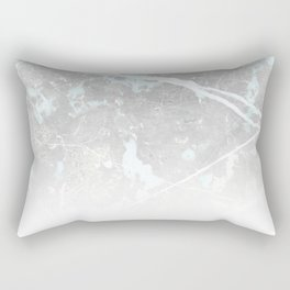 Pastel Teal & Grey Marble - Ombre Rectangular Pillow