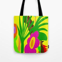 The Simple Jungle - Bright Neon Tropical Design Tote Bag