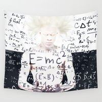 einstein Wall Tapestries featuring einstein by Taranta Babu