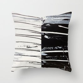 Black & White Close Up Throw Pillow