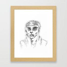 Half Empty Framed Art Print