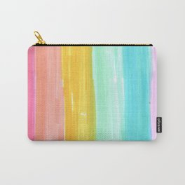 rainbow stripes pastel in the spring Carry-All Pouch