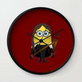 HG Minion Katiniss Evedeen Wall Clock
