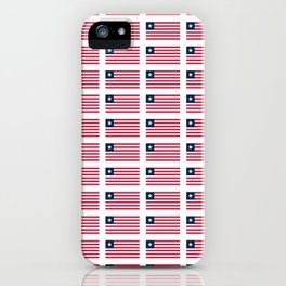Flag of liberia-liberian,liberiano,pepper coast,kpelle,Bassa,Monrovia iPhone Case