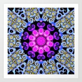 Colorful Oriental Mandala Art Print