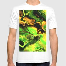 Gorgeous Fractal 173 Mens Fitted Tee MEDIUM White