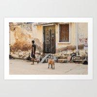 Street Dog Art Print