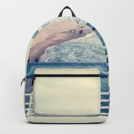 Beach at summer sunset Backpack
