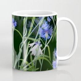Beautiful Cornflowers on Black Background #decor #society6 #buyart Coffee Mug