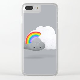 Cloud Hugs by Ballsy Creative Clear iPhone Case