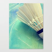 feather Canvas Prints featuring Feather by Yilan