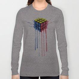 Watercolor Rubik Long Sleeve T-shirt