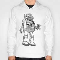 robot Hoodies featuring Robot. by Scott Mckenzie-Lee