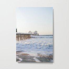 Malibu Pier - Hurricane Marie 2014 Metal Print