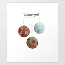 Wonderful Christmas Art Print
