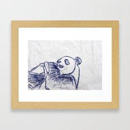 Panda doodles Framed Art Print
