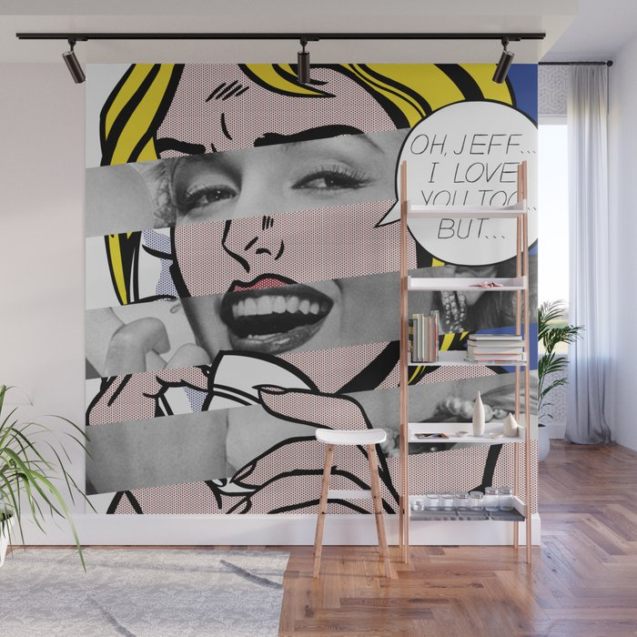 Roy Lichtenstein S Oh Jeff I Love You Too But M M Wall Mural By Luigitarinigraphicartist Society6