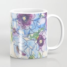Big Blue Poppies Coffee Mug
