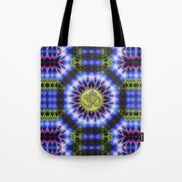 Om Shanti Fractal Geometry series #1 Tote Bag