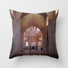 Conjoined Faiths 2 (Mosque-Cathedral of Cordoba) Throw Pillow