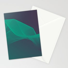 Waves network lines art Stationery Cards