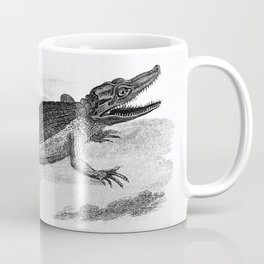 Illustration of Crocodile from Zoological lectures delivered at the Royal institution in the years 1 Coffee Mug