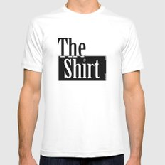 The Shirt White MEDIUM Mens Fitted Tee