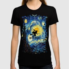 Young wizzard abstract art painting iPhone 4 4s 5 5c, ipod, ipad, pillow case, tshirt and mugs Black MEDIUM Womens Fitted Tee