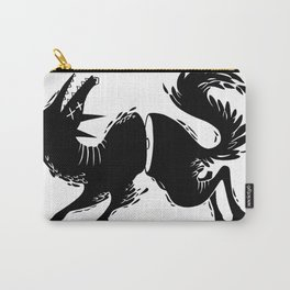 Wolf Cut in Half Carry-All Pouch