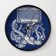 Rocker robot Navy Wall Clock