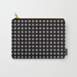 Vintage Sun Shine Pattern - Pink Grey Black Carry-All Pouch