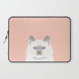Roxie - White Birman Cat, Cute Kitten, White Cat Blue Eyes, Cell Phone Case, Cat Lady Gift Laptop Sleeve