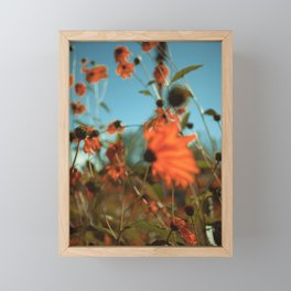 Autumn Waving with the Breeze Framed Mini Art Print