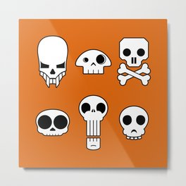 All skulls, all the time. Metal Print