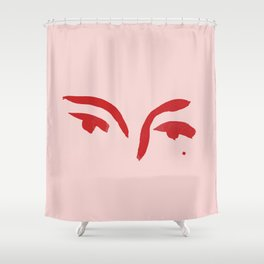 Kat in Ink Shower Curtain